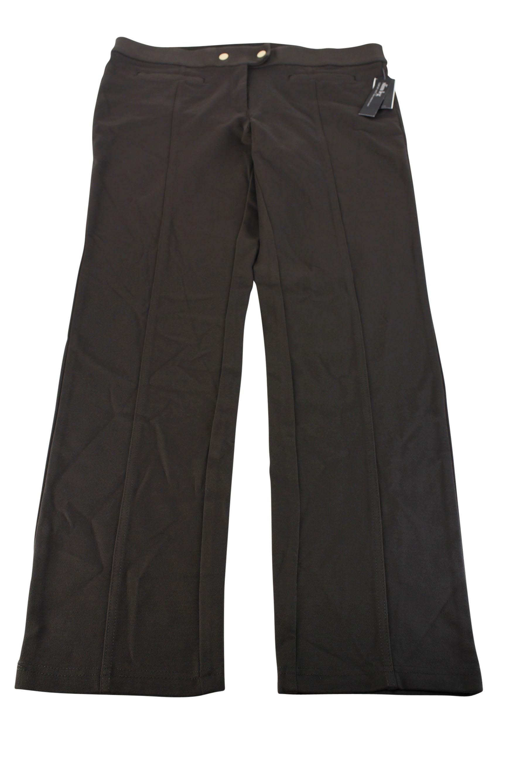 Alfani Womens Slim Fit Pants - Brown Rayon