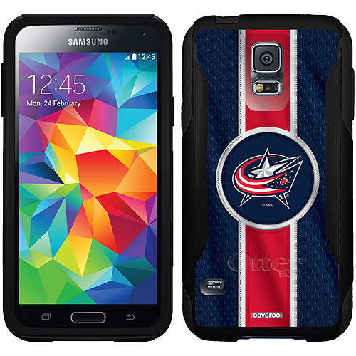 Columbus Blue Jackets Jersey Stripe Design on OtterBox Commuter Series Case for Samsung Galaxy S5
