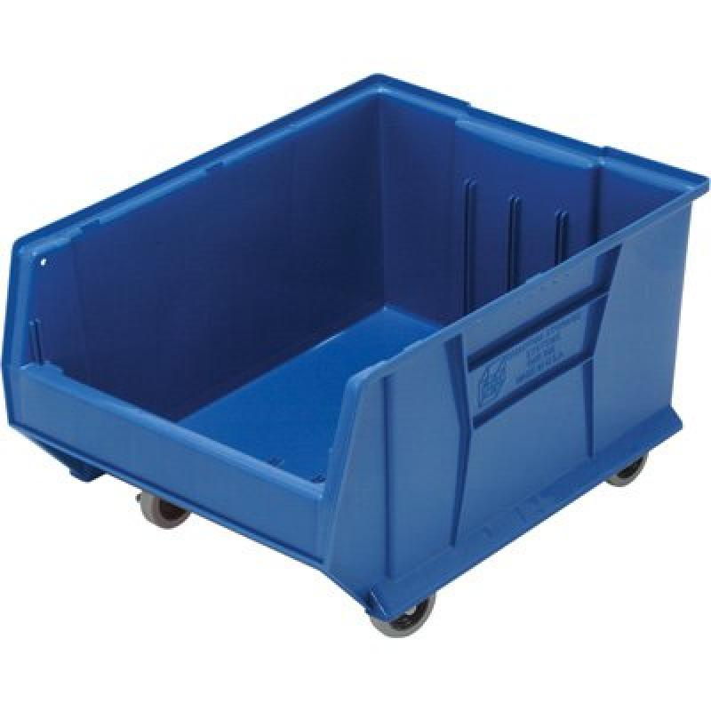 Quantum QUS965MOB Plastic Storage Stacking Hulk Container, 24-Inch by 18-Inch by 15-Inch, Blue, Case of 1