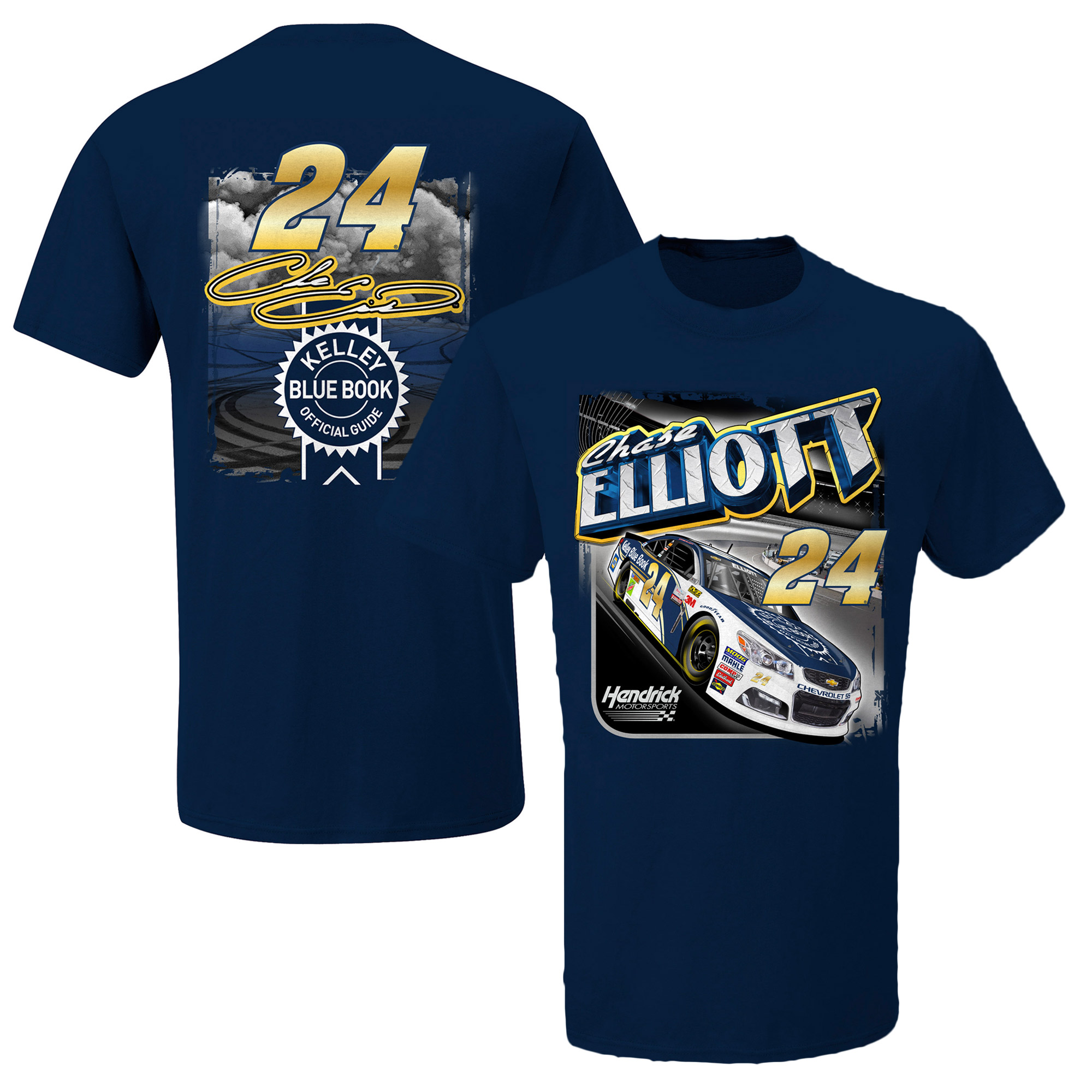 Chase Elliott Kelley Blue Book T-Shirt - Navy