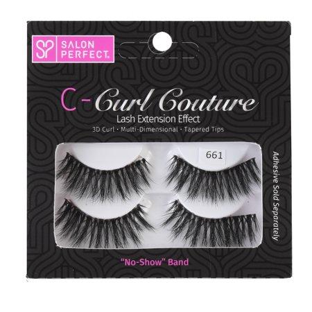 Salon Perfect Extension Seeker B-Curl False Eyelashes, 2 Pack, 661