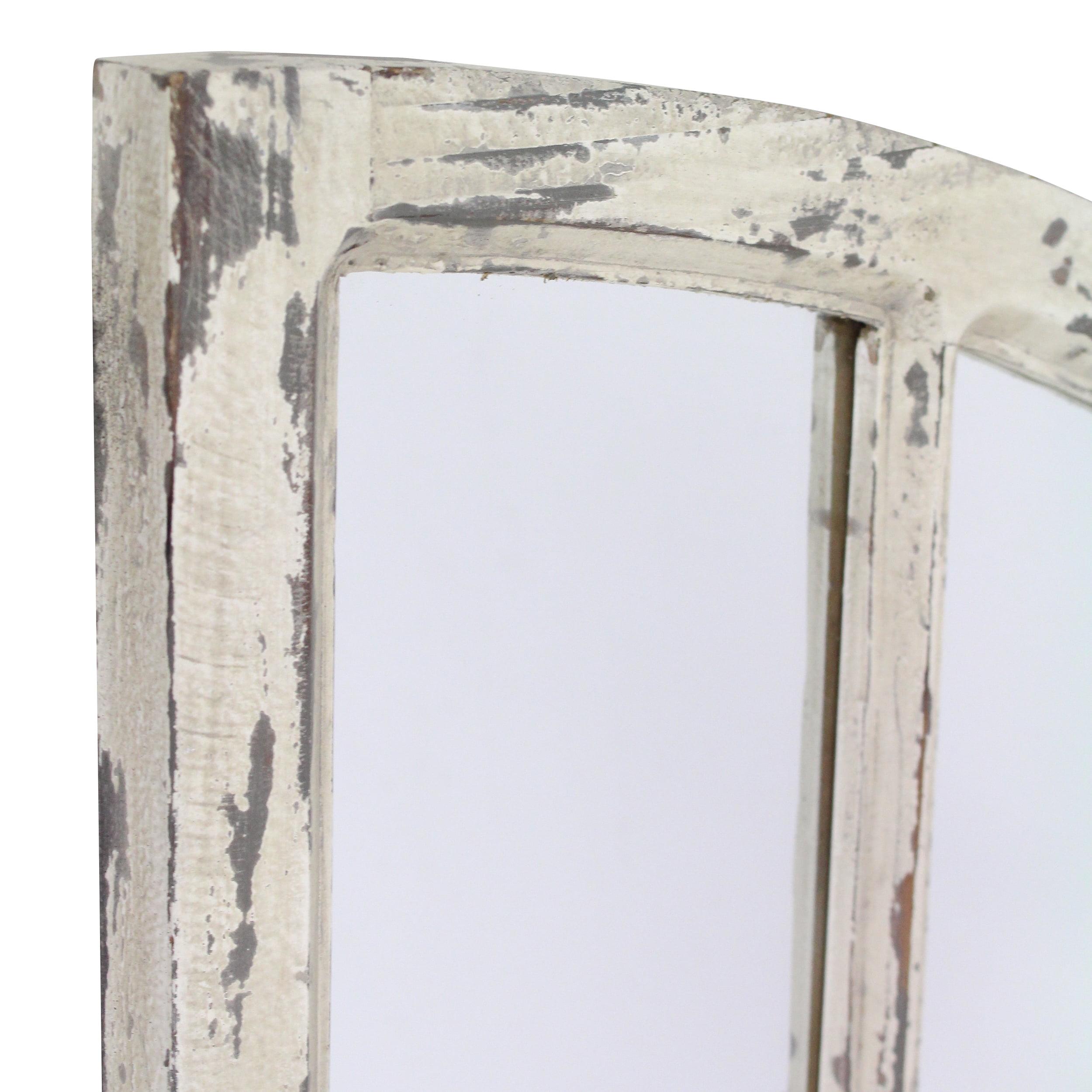 Jolene Arch Window Pane Mirrors Off White 27 X 15 Set Of 2 By Aspire Walmart Com Walmart Com