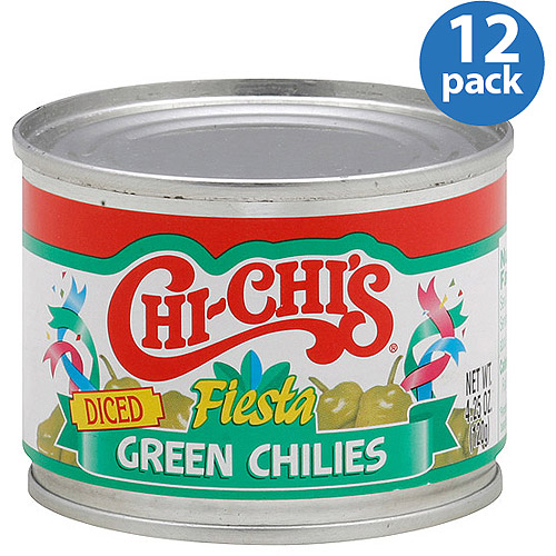 Chi-Chi's Fiesta Diced Green Chilies, 4.25 oz, (Pack of 12)