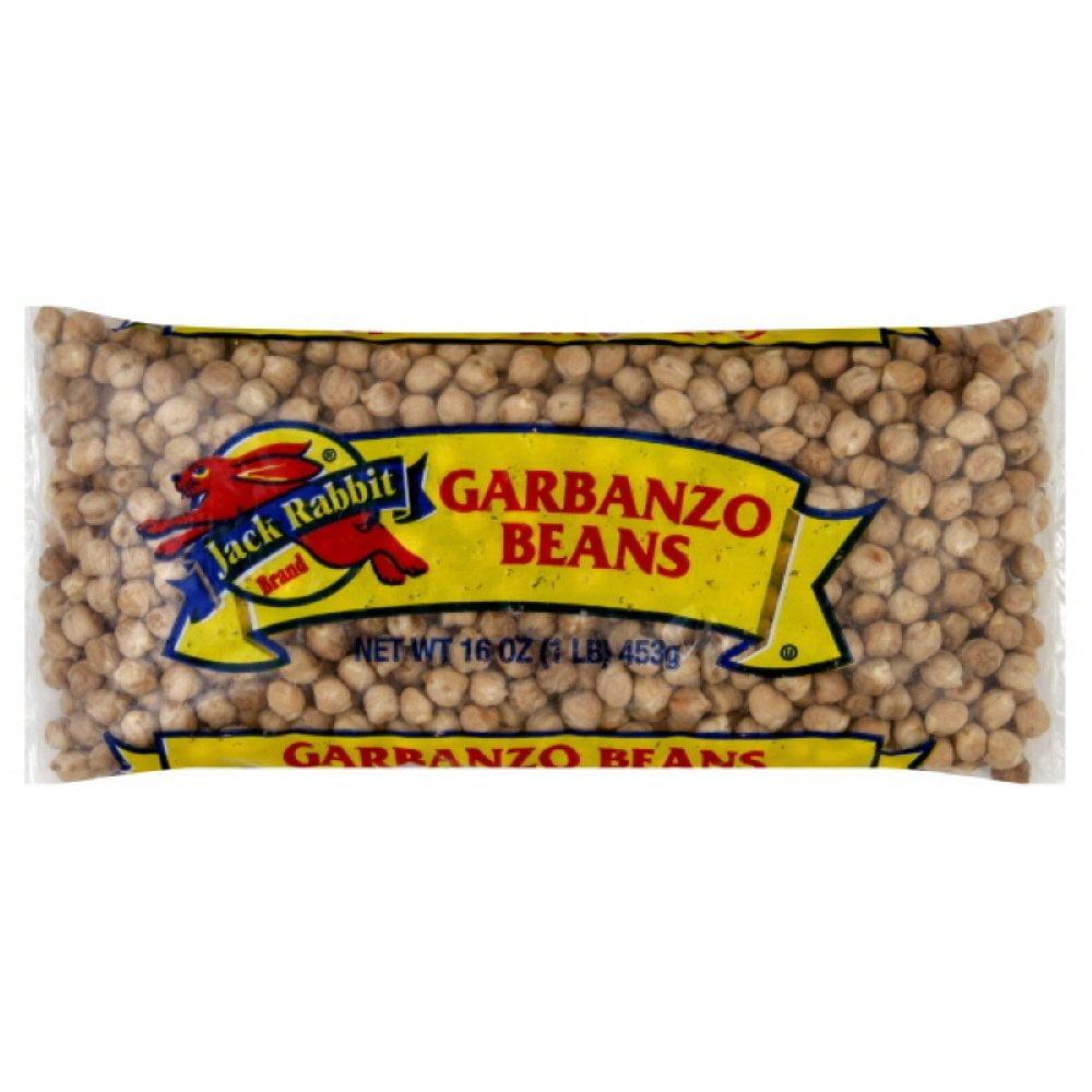 24 PACKS : Jack Rabbit Beans, Garbonzo, Chick Peas, 1-pounds