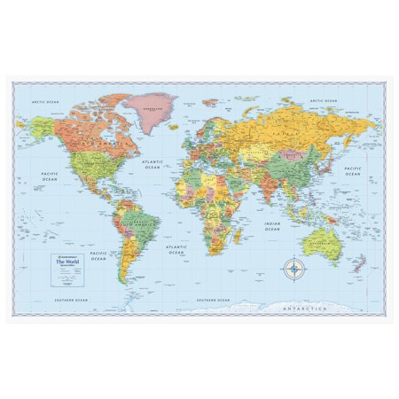 (Rand McNally M-Series Full-Color World Map, 50 x 32)