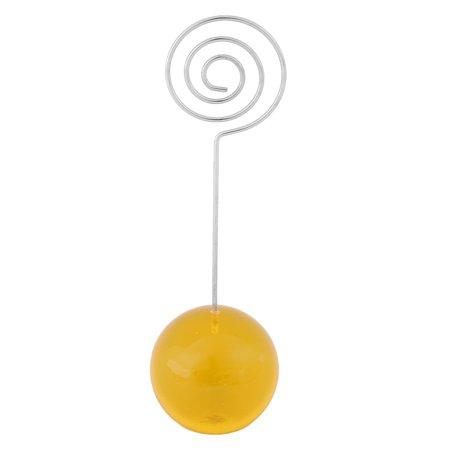 Office Desktop Ball Shaped Spiral Design Clamps Note Photos Memo Clip - Shirt Clips