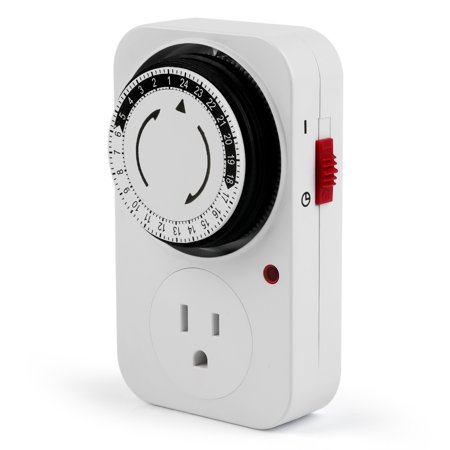 24 Hours Plug-in Mechanical Timer Programmable Mini Timer Switch Smart Countdown Switch Socket Socket - image 1 of 7