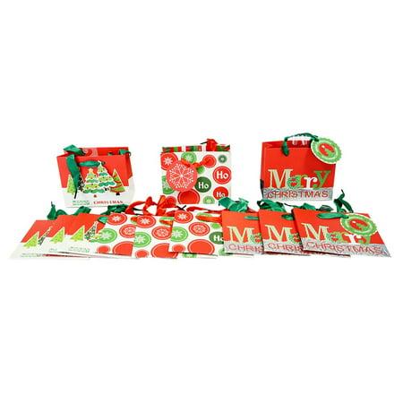 Small Modern Christmas Gift Bags