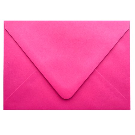 Raspberry Pink Contour Euro Flap 50 Boxed A7-70lb Envelopes (5-1/4 x 7-1/4) for 5 x 7 Invitations Announcements Weddings Showers Communions Confirmations by The Envelope Gallery Fuchsia