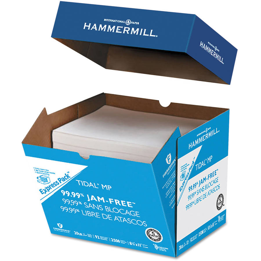 "Hammermill Tidal MP Paper Express Pack, 92 Brightness, 8.5"" x 11"", White, 2500-Pack"