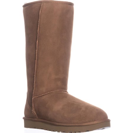 Chestnut Brown Boots - Ugg Women's Classic Tall II Leather Chestnut Mid-Calf Suede Boot - 9M
