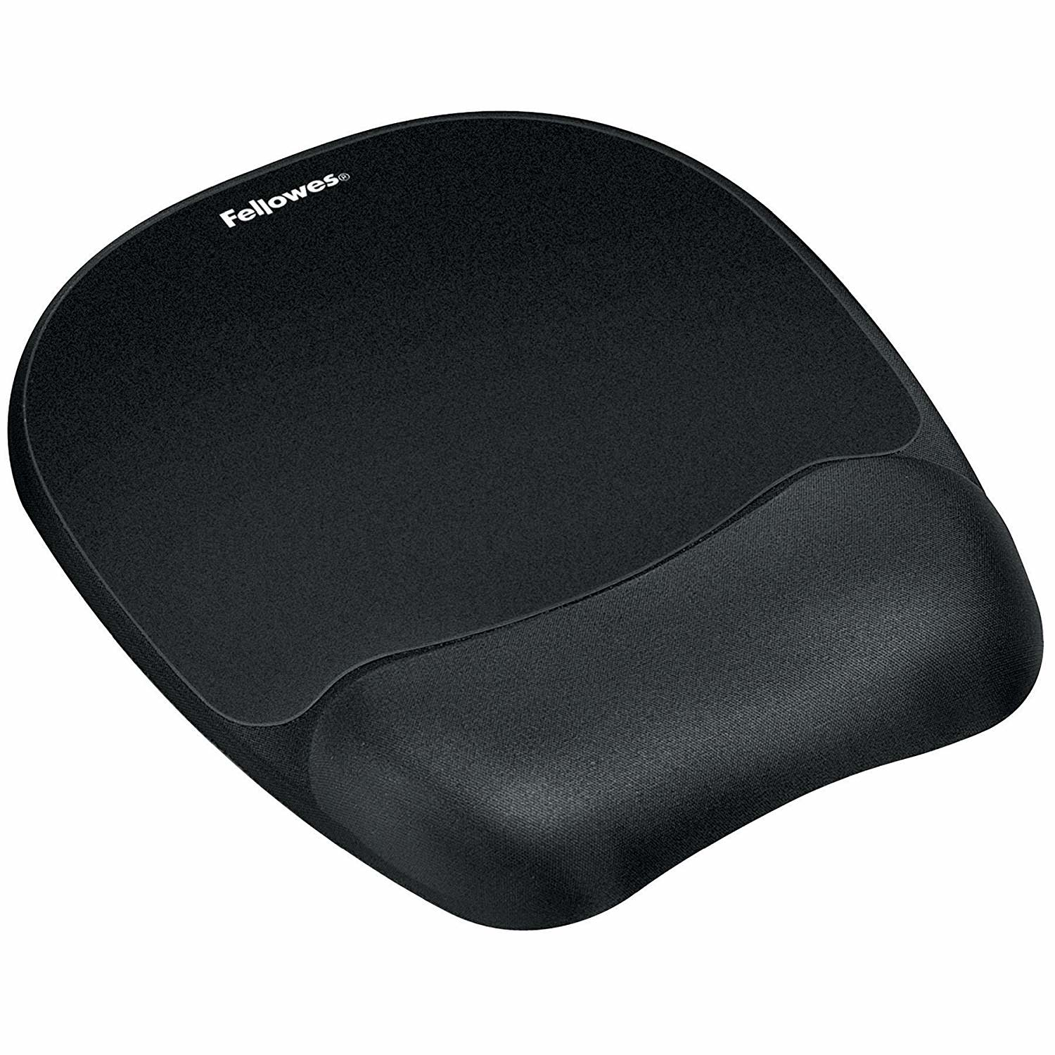 Fellowes Memory Foam Mouse Pad with Wrist Rest, Black