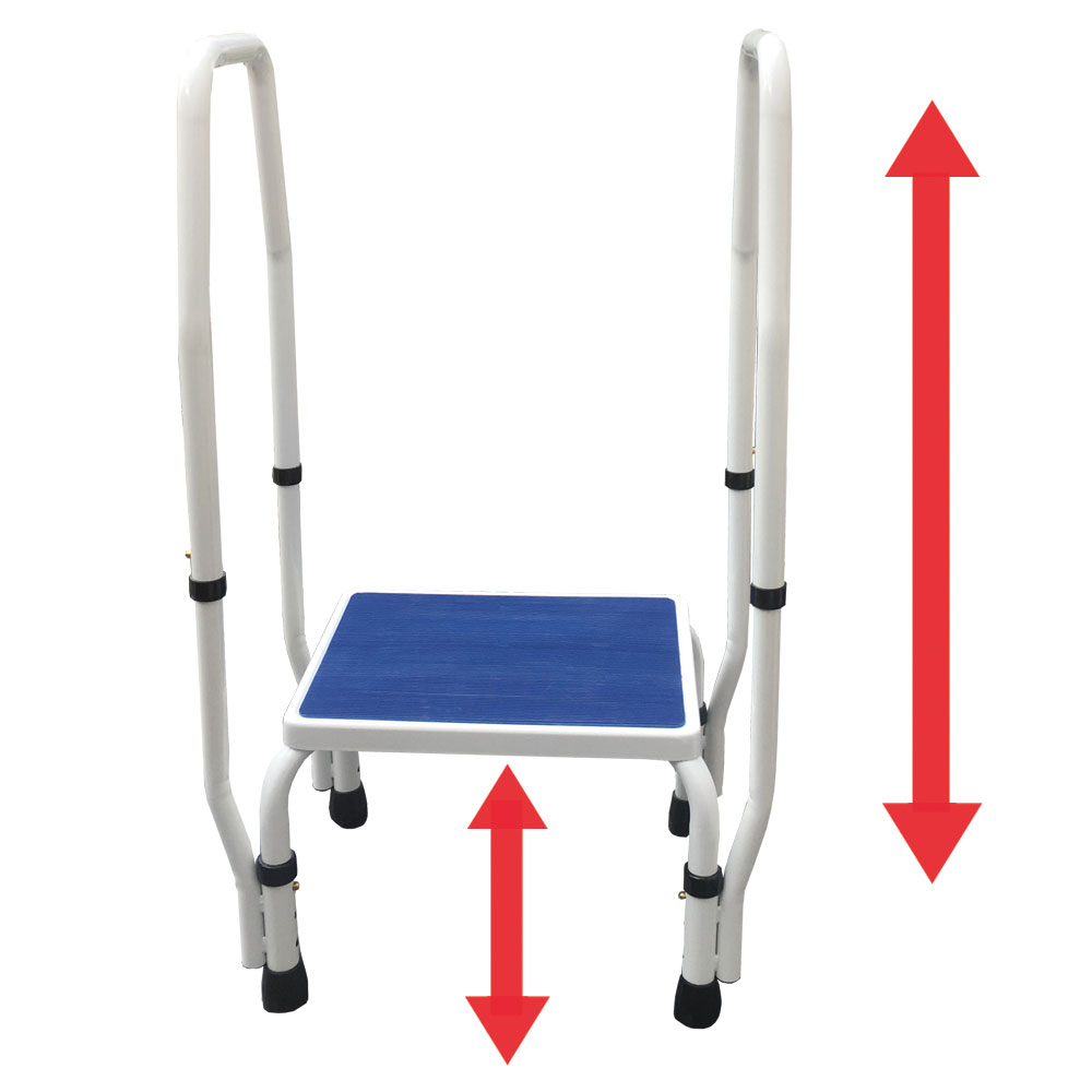 Adjustastep Tm 2 In 1 Doublesafe Deluxe Step Stool