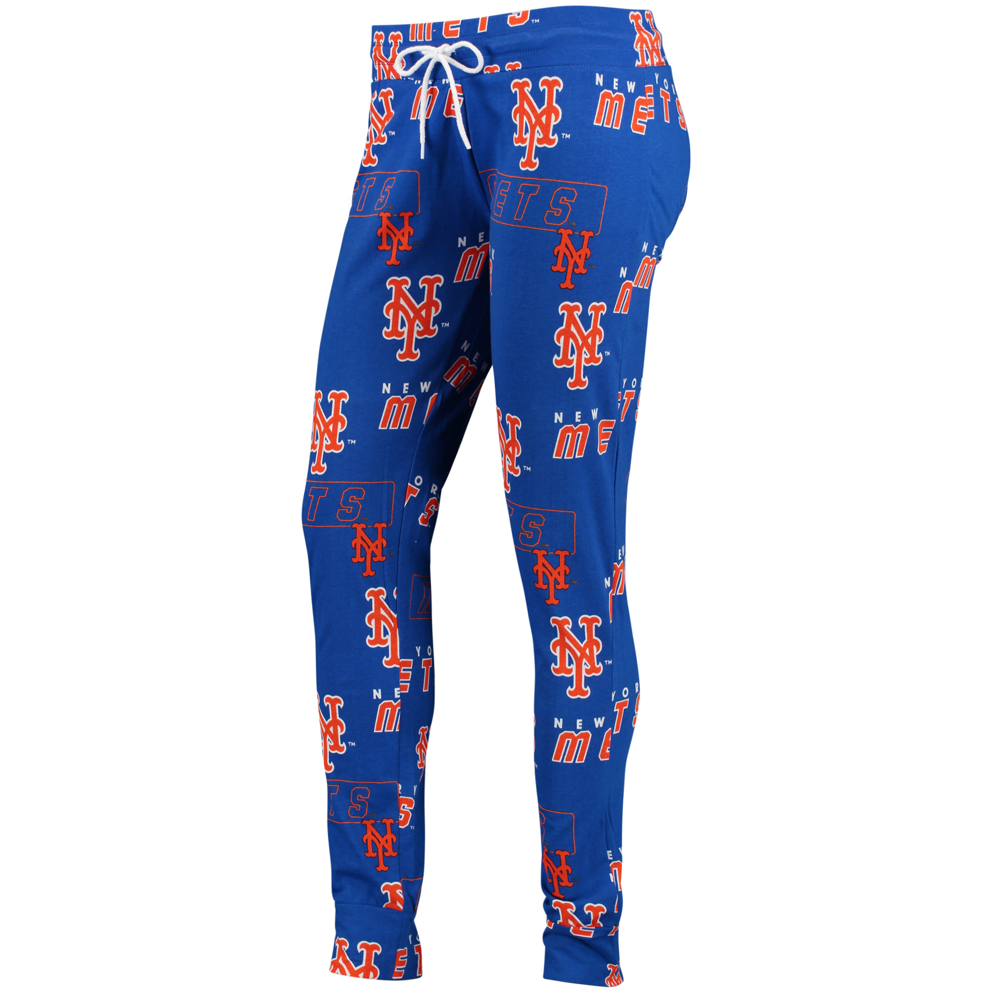 New York Mets Concepts Sport Women's Slide Knit Pajama Pants - Royal
