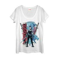 Marvel Women's Thor: Ragnarok Valkyrie Warsong Scoop Neck T-Shirt