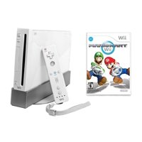 Refurbished Wii Console White with Mario Kart Wii