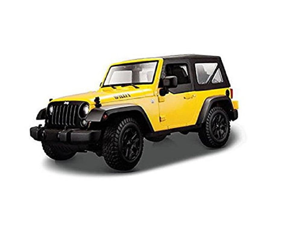 Maisto 2014 Jeep Wrangler 1:18 Diecast Model Car, Yellow by Maisto