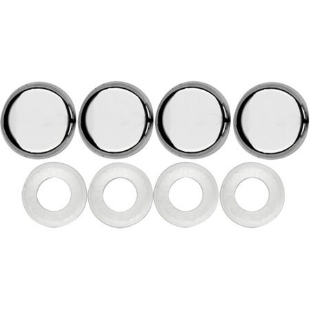 Cruiser Accessories Fastener Caps, Chrome Cruiser Chrome Mirror Covers