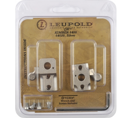 Leupold Quick Release Base, 2 Piece, Kimber 8400, Silver