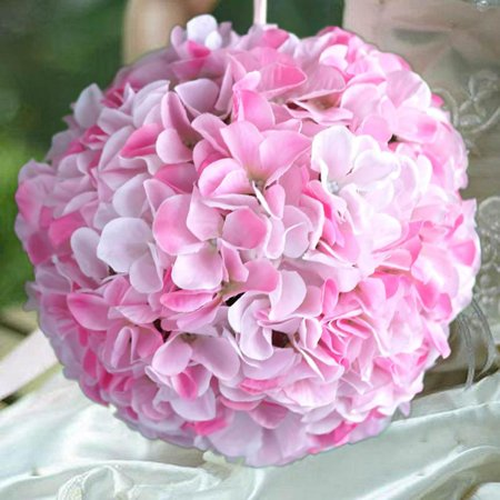 BalsaCircle 4 pcs 7-Inch Hydrangea Kissing Flower Balls - Artificial Flowers Wedding Party Centerpieces Arrangements Bouquets (Kissing Ball Centerpieces)