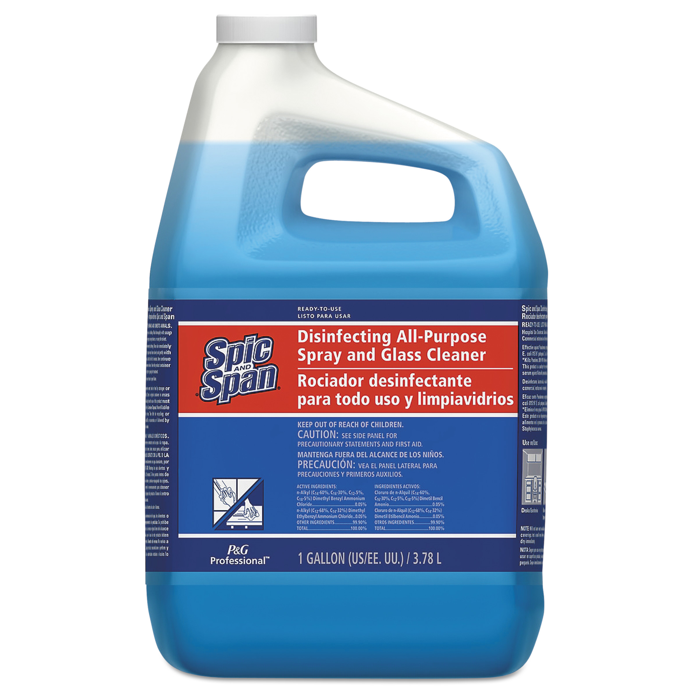 Spic and Span Disinfecting All-Purpose Spray and Glass Cleaner, Fresh Scent, 1 gal Bottle