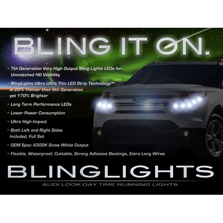 Ford Explorer LED DRL Head Lamp Light Strips Day Time Running Kit