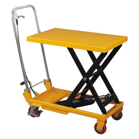 - Wesco Scissor Lift Table with Folding Handle
