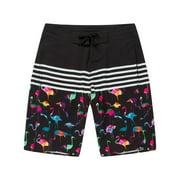 Hawaii Hangover Men and Big Men Rainbow Board Shorts, up to size 42