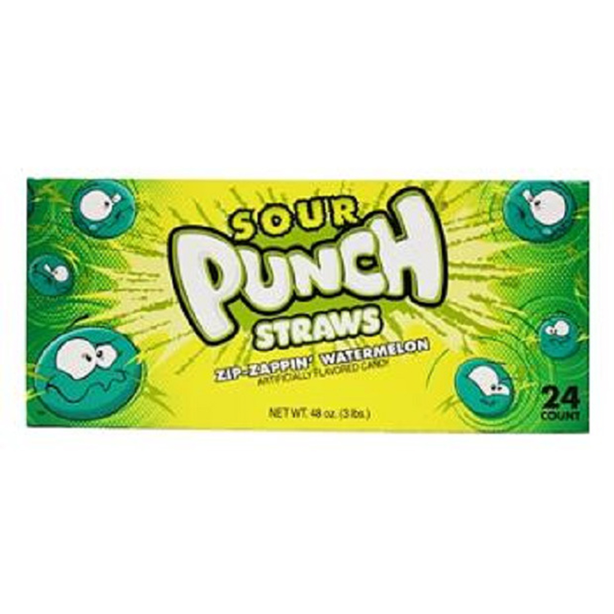 Product Of Sour Punch, Straws, Zip-Zappin Watermelon, Ct 24 (2 Oz) - Sugar Candy / Grab Varieties & Flavors