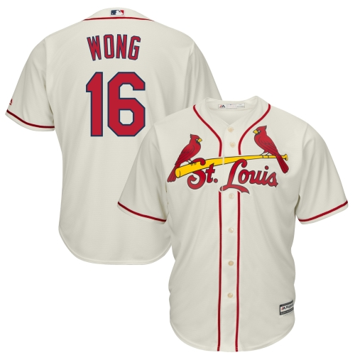 Kolten Wong St. Louis Cardinals Majestic Cool Base Player Jersey - Cream
