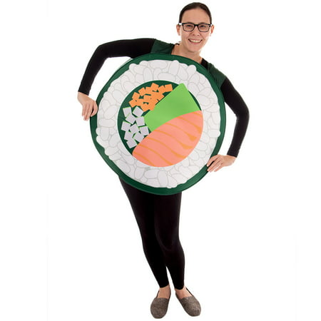 Last Minute Funny College Halloween Costumes (Boo! Inc. Sushi Roll Halloween Costume | Adult Unisex One-Size Funny Food)