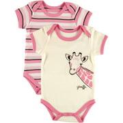 Baby Girl Bodysuit, 2-Pack