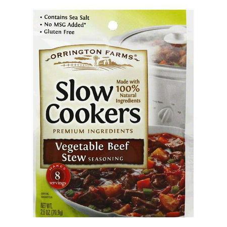 Orrington Farms Vegetable Beef Stew Slow Cookers Seasoning, 2.5 Oz (Pack of 12) Orrington Farms Vegetable Beef Stew Slow Cookers Seasoning, 2.5 Oz (Pack of 12)