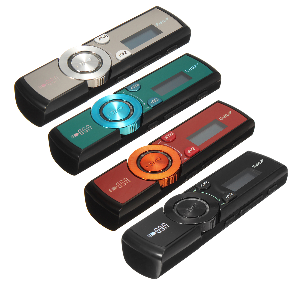 LCD HD Screen MP3 Player USB FM Radio Kit Headphones+Clip Support Memory Card (not included)