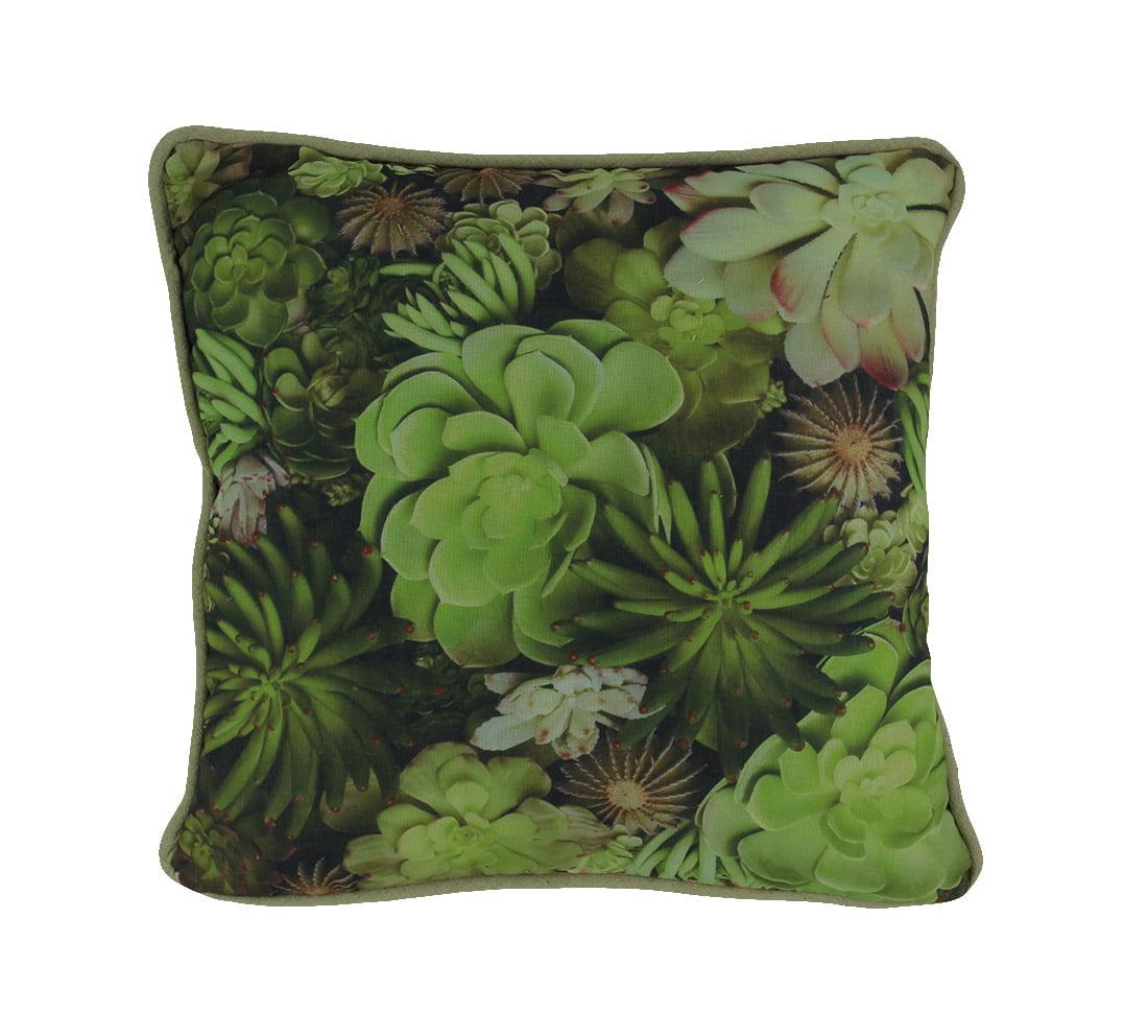 Tropical Succulent Print 16 inch Decorative Throw Pillow - image 3 de 3