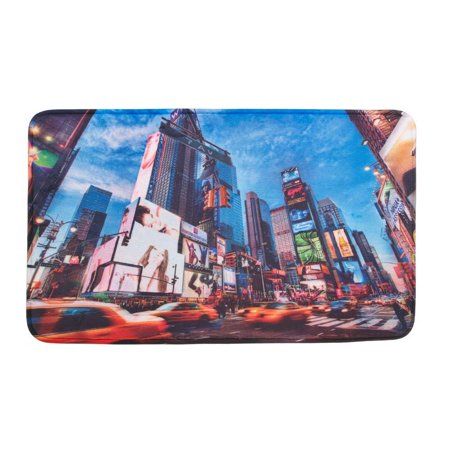 Home Welcome Mat, Times Square Nyc Indoor Porch Modern Decorative Welcome Mats ()