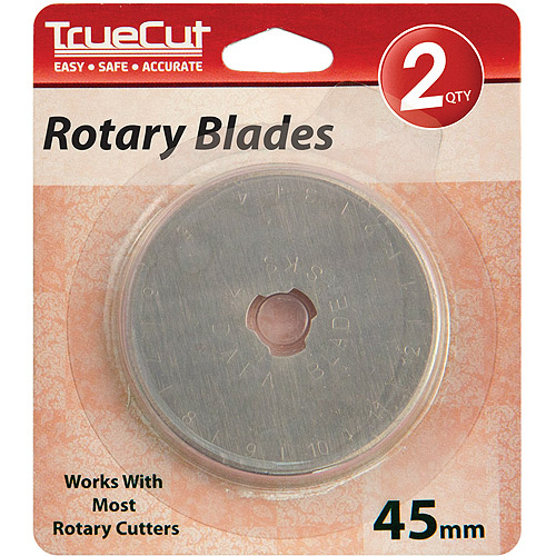 TrueCut Rotary Cutter Replacement Blades, 45mm, 2pk