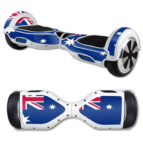 MightySkins Protective Vinyl Skin Decal for Hover Board Self Balancing Scooter mini 2 wheel x1 razor wrap cover sticker Australian Flag