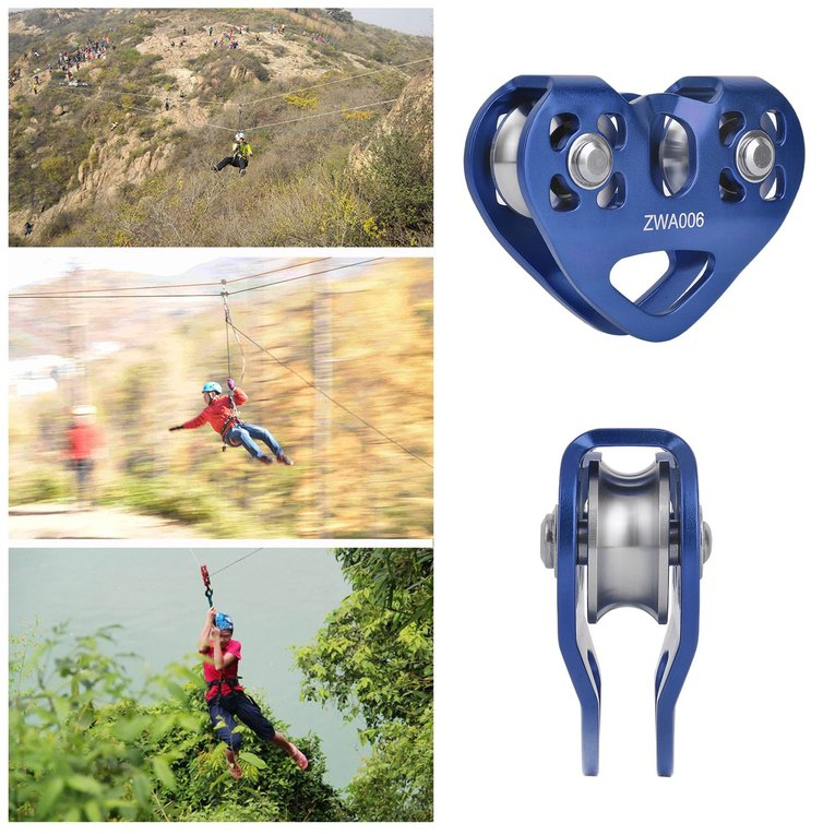 Outdoor Rock Climbing Zip Line Cable Rope Trolley Zipline Fast Speed Pulley