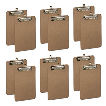 Hard Board Clipboard, Profile Clip With Rubber Grips, Memo Size 9
