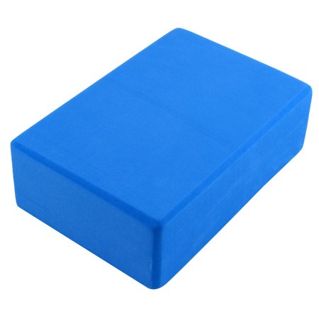 Gym Athletic Training EVA Foam Rectangle Shaped Pilates Yoga Block Brick Blue