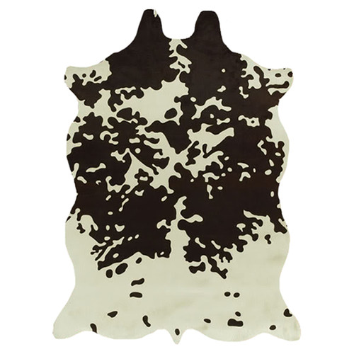 Acura Rugs Animal Hide White/Brown Area Rug