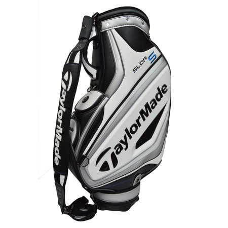 Taylormade Golf Men S Sldr Staff Bag White Black Silver