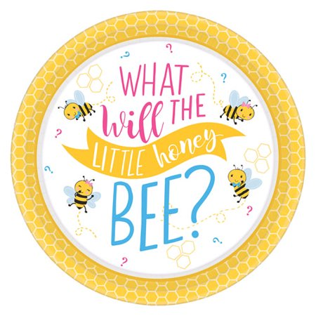 Baby Shower 'What Will it Bee?' Extra Large Paper Plates (8ct) - Make It Plates