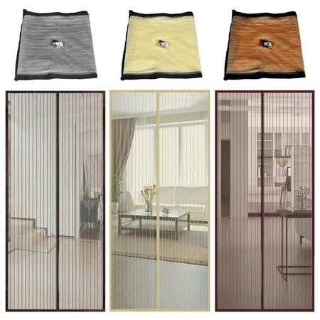CUH Mosquito Magnetic Screen Door Mesh Fastening Flying Insect Door Curtain Fly Screen Bug Net ()