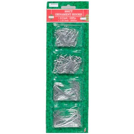 Silver Ornament Hooks Pack Of 300 - Decorative Ornament Hooks