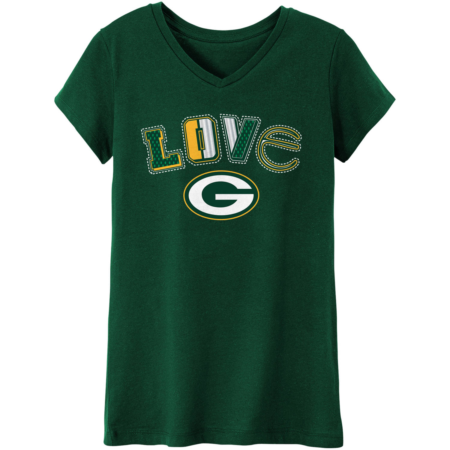 NFL Green Bay Packers Girls Short Sleeve Cotton Tee