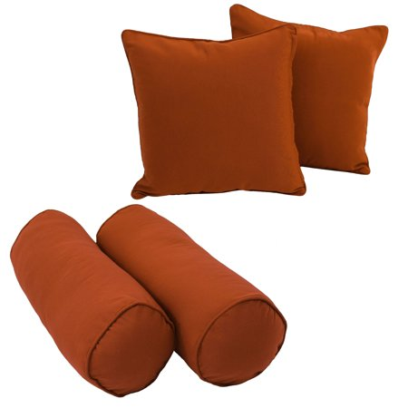 Double-corded Solid Twill Throw Pillows with Inserts (Set of 4) - Spice - image 1 of 1