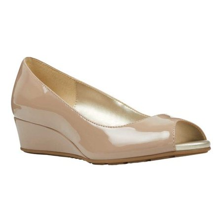 Women's Bandolino Candra Peep Toe Wedge Satin Peep Toe Pump Heel