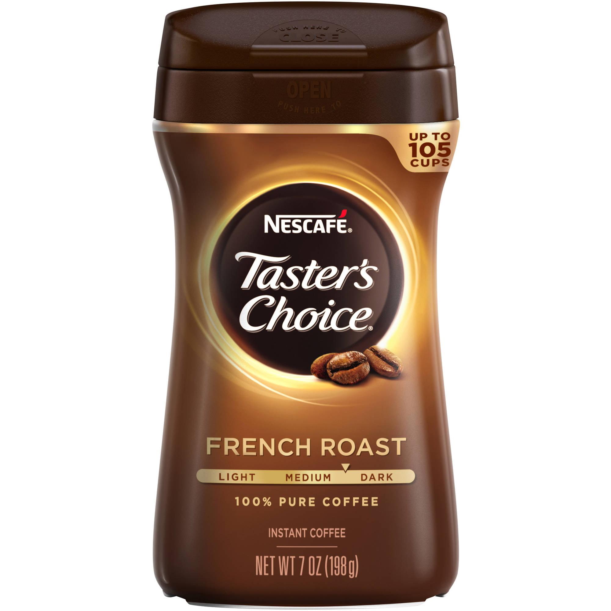 Nescafe Taster's Choice French Roast Instant Coffee, 7 oz